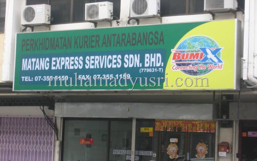Matang New SignBoard1 Matang Express Services Berwajah Baru