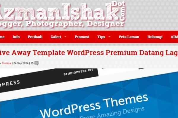 Giveaway Blog AzmanIshak 600x400 Give away Template Wordpress Premium Dari AzmanIshak.Com