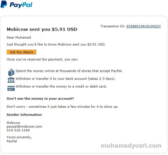 First Payment Mobicow