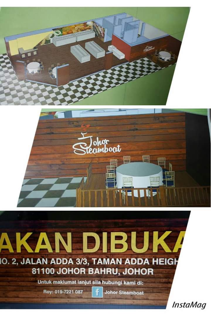 Restoran Johor Steamboat under renovation