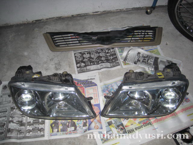 Dismantle grill & headlamp