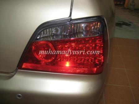 Installation of LED Tail Lamp Done