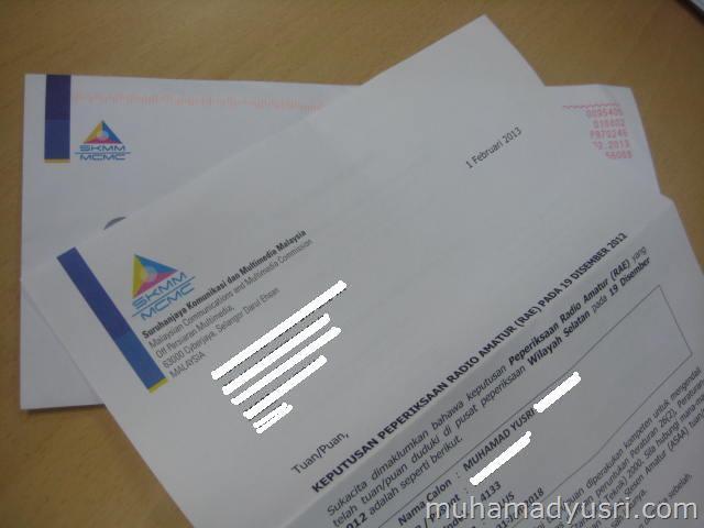 Surat Rasmi Keputusan RAE