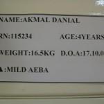 Danial at HSI ward